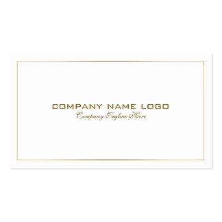 Oro moderno simple de la lata agujereado en blanco tarjetas de visita
