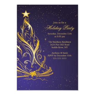 Oro moderno y celebración de días festivos azul comunicado personal