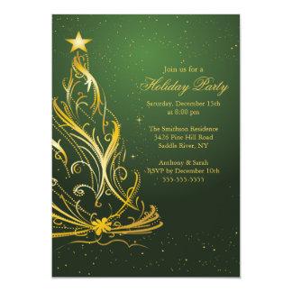 Oro moderno y celebración de días festivos verde comunicado