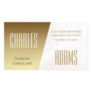 Oro moderno y diseño dividido blanco tarjetas de visita