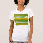 Oro moderno y rayas verdes camiseta