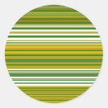 Oro moderno y rayas verdes pegatina redonda