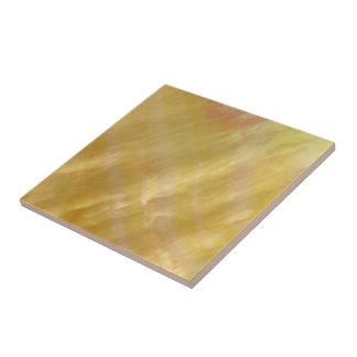 Oro nacarado de los tonos azulejo cuadrado pequeño