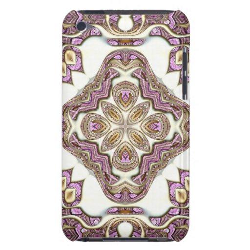 Oro nacarado y púrpura iPod Case-Mate funda