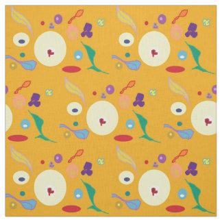 Oro/naranja con Spots>Fabric colorido Telas