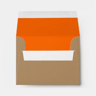 Oro/naranja del sobre A2
