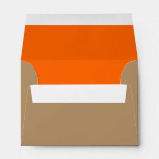 Oro/naranja del sobre A6