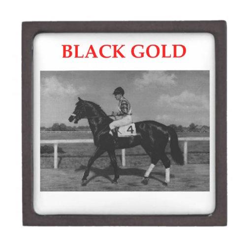 oro negro caja de recuerdo de calidad