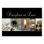 Oro negro Cristo de las Felices Navidad de la nuer Felicitación