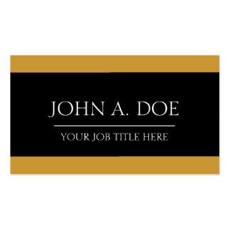 Oro negro de la cinta de YourJobTitle Tarjetas De Visita