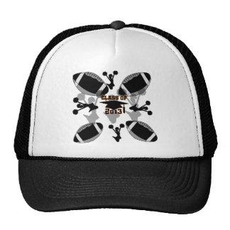 Oro negro del negro del fútbol 2013 gorras