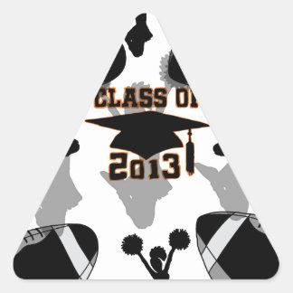 Oro negro del negro del fútbol 2013 calcomanía de trianguladas
