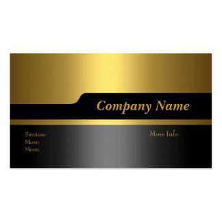 Oro negro elegante de la empresa de tarjetas del n tarjetas de visita
