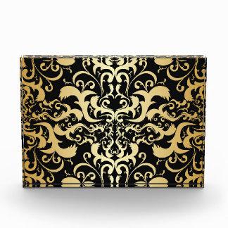 oro negro, falso, vintage, antigüedad, damascos,