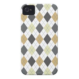 Oro negro gris de moda retro de Argyle iPhone 4 Case-Mate Carcasas