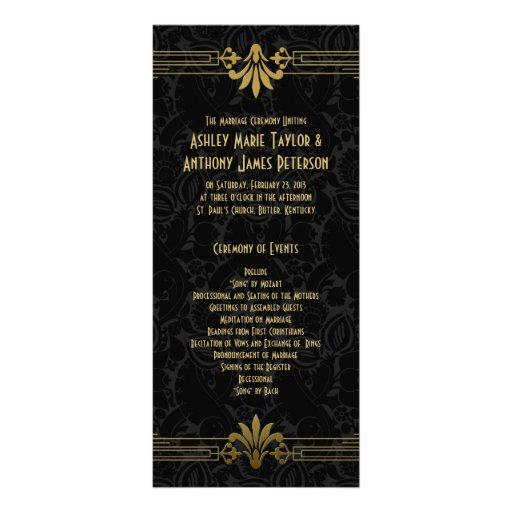 Oro negro que ruge el art déco 20s que casa progra tarjetas publicitarias