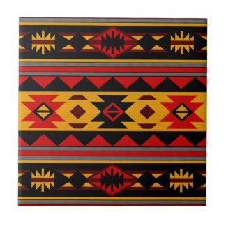 Oro negro rojo intrépido del diseño del sudoeste azulejo cuadrado pequeño