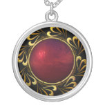 Oro negro rojo Jewelled collar