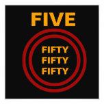 Oro negro rojo Ver del 50.o cumpleaños moderno 2 Comunicado Personal