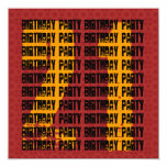 Oro negro rojo W1005 del 21ro cumpleaños del Invitación 13,3 Cm X 13,3cm