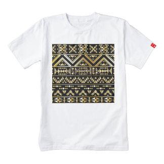 Oro, negro, tribal, damasco, natural, modelo, de