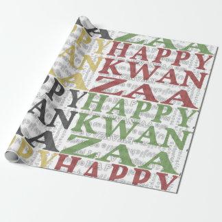 Oro negro verde rojo feliz moderno de Kwanzaa