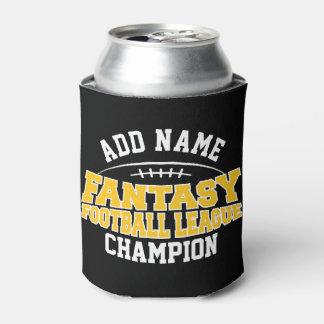 Oro negro y amarillo del campeón del fútbol de la enfriador de latas