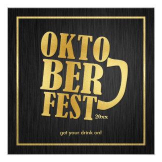 Oro negro y metálico elegante Oktoberfest 2013 Comunicado