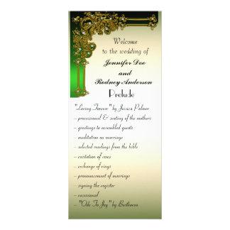 Oro negro y tarjeta verde del estante del programa plantillas de lonas