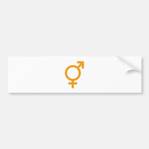 Oro neutral del género los regalos de Zazzle del M Pegatina Para Auto