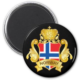 Oro Noruega Imán Redondo 5 Cm