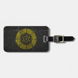 Oro nuclear etiqueta de equipaje