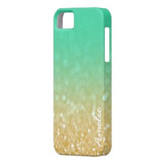 Oro Ombre Iphone conocido personalizado brillo 5 iPhone 5 Fundas