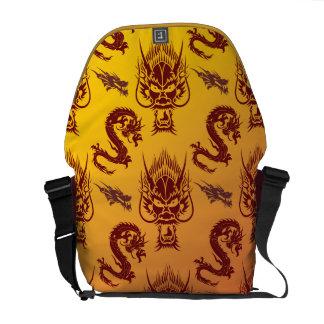 Oro oriental del marrón del modelo de las criatura bolsa de mensajeria