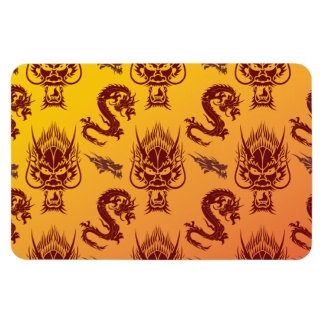 Oro oriental del marrón del modelo de las criatura imanes de vinilo