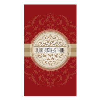 Oro oriental moderno del rojo de la mandala de la tarjetas de visita