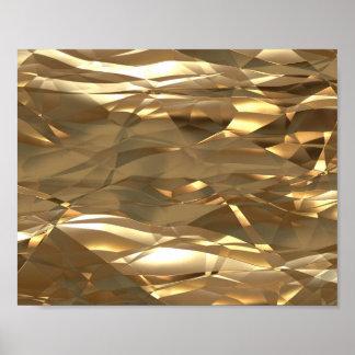 ¡Oro, oro, oro! - Modelo elegante del oro Póster