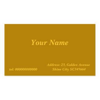 oro oscuro tarjetas de visita