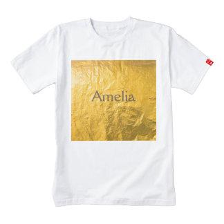 Oro, papel foile, vintage, grunge, de oro, modelo, playera zazzle HEART