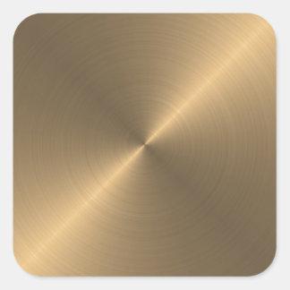 Oro Pegatina Cuadrada