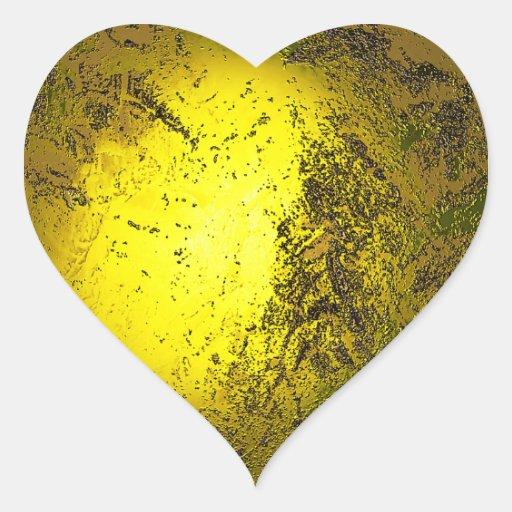 Oro Pegatina En Forma De Corazón