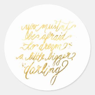 """Oro pegatinas """"más grandes"""" ideales pegatina redonda"""