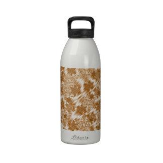 oro, pequeño modelo brillante floral botella de agua