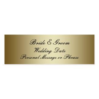 Oro personalizado casando la plantilla de la etiqu tarjetas de visita mini