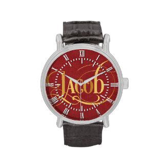 Oro personalizado de Jacob de la escritura de Relojes