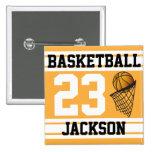 Oro personalizado y blanco del baloncesto pins