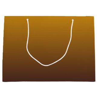 Oro picante Brown Ombre Bolsa De Regalo Grande