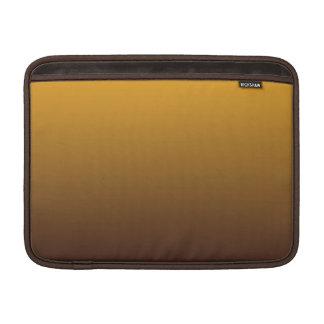 Oro picante Brown Ombre Fundas MacBook