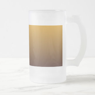 Oro picante Brown Ombre Jarra De Cerveza Esmerilada