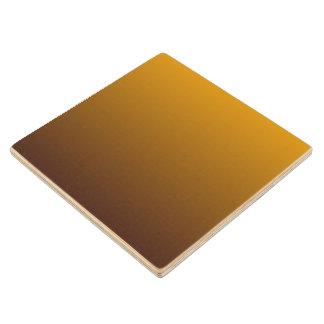 Oro picante Brown Ombre Posavasos De Arce